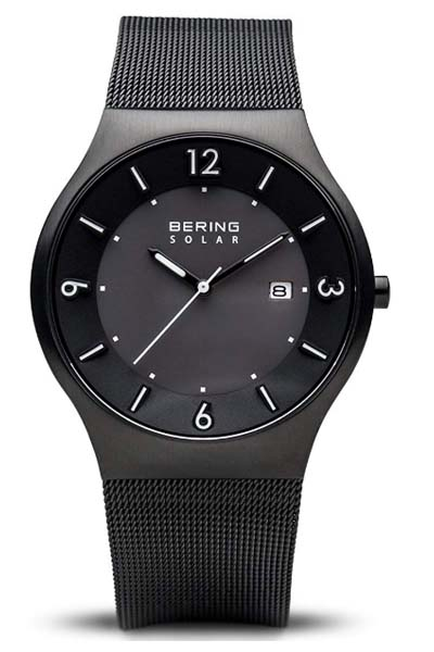 Bering 14440-077 front - silver business watch
